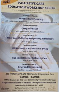 Education Poster | Niagara-on-the-Lake Community Palliative Care Services | 2