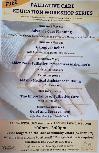Education Poster | Niagara-on-the-Lake Community Palliative Care Services | 3